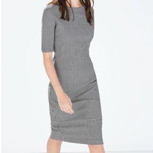9d9dfe87956 Zara Dresses - Zara Houndstooth Boat Neck Dress